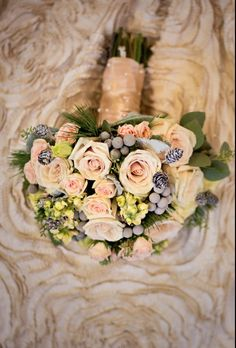 winter wedding, winter bouquet, ivory and silver wedding bouquet, silver wedding bouquet, I like the wintery feel of this one