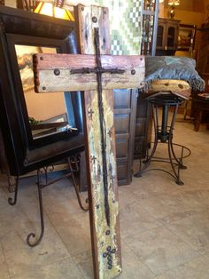 Handmade Reclaimed Wooden Cross SOLD by Zoutwest on Etsy, $548.00