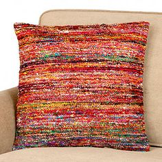 pillow made from recycled saris (I think I'd love anything made out of the fabrics for Sarees)