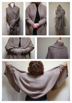 MES FAVORIS TRICOT-CROCHET: Modèle tricot gratuit : Un châle multi-usages