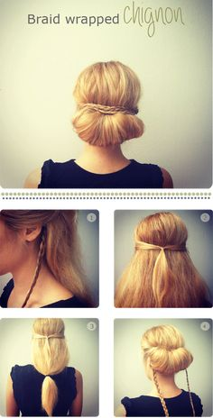 What's the Difference Between a Bun and a Chignon? - How to Do a Chignon Bun – Easy Chignon Hair Tutorial - The Trending Hairstyle Work Hairstyles, Pretty Hairstyles, Wedding Hairstyles, Quick Hairstyles, Braid Hairstyles, Wedding Updo, Latest Hairstyles, Hairstyles For Teachers, Hairstyles Haircuts