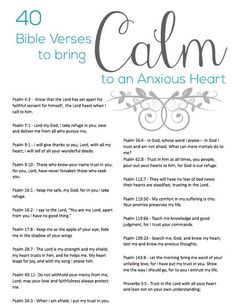 "Crafting by Holiday on Twitter: ""40 Bible Verses to Calm an Anxious Heart…"