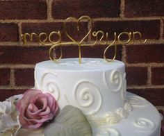 Custom Personalized Wire Cake Topper