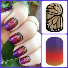 Layering #Jamberry wraps!  #ButterflyEffect and #AdamsFavoritetint http://www.stephanieekegren.jamberrynails.net