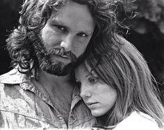 Jim Morrison and girlfriend Pamela