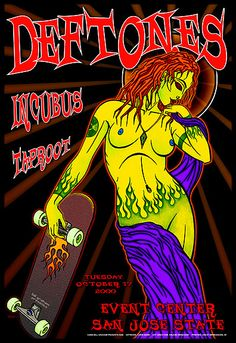 Deftones, Taproot And Incubus Gig Poster. This would have been awesome to see.