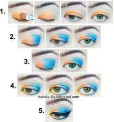 Makeup Acid step by step! #blueshadow #howto #tutorial #eyemakeup #eyes - bellashoot.com