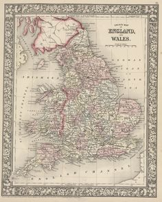 da49a57c9b907c Map of England and Wales - 1866