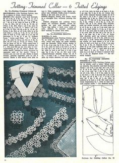 tatting - collar