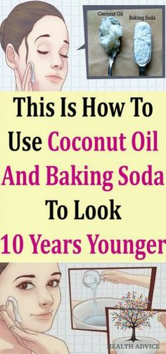 This Is How To Use Coconut Oil & Baking Soda, To Look 10 Years Younger! - This Is How To Use Coconut Oil & Baking Soda, To Look 10 Years Younger! Baking Soda Scrub, Baking Soda For Hair, Baking Soda Face, Baking Soda And Lemon, Baking Soda Shampoo, Baking Soda Uses, Baking With Coconut Oil, Coconut Oil For Acne, Coconut Oil Uses