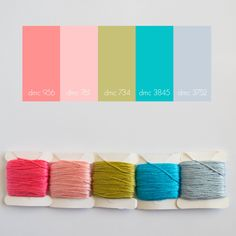 embroidery color palette by Lovely Messes