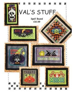 Spell Bound by Vals Stuff is a set of halloween cross stitch patterns that should really help you decorate this halloween! There is everything from skulls, black cats, pumpkins, witches and owls all in a playful style that will definitely treat anyone that comes to your home.