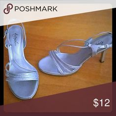 Silver Strappy Heels Silver Metaphor Shoes Heels