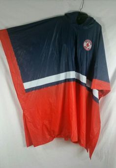 Genuine Merch G III Cad Banks Unisex Boston Red Sox Poncho Rainwear One Size