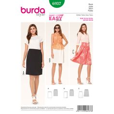 Gonna con coulisse, Burda 6937