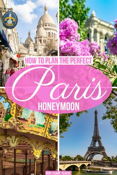 The ultimate guide to planning your honeymoon in Paris! honeymoon Honeymoon in Paris: How to Plan Your Dream Trip - Our Escape Clause European Honeymoon Destinations, Honeymoon Packing, Honeymoon Night, Romantic Honeymoon, Romantic Vacations, Romantic Getaway, Honeymoon Ideas, Honeymoon In France, Honeymoon Places