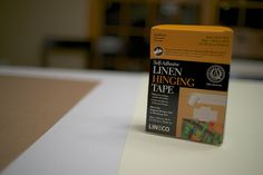 Framing Tutorial by M N ODonnell, via Flickr Using Lineco's Self-Adhesive Linen Hinging Tape #archival