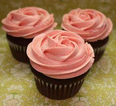 rasperry chocolate cupcakes