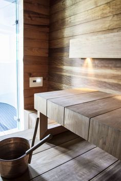 Gorgeous Coolest Home Sauna Design Ideas Sauna House, Sauna Room, Saunas, Scandinavian Cabin, Sauna Design, Outdoor Sauna, Inside A House, Finnish Sauna, Spa Rooms