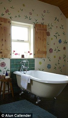 Our falmouth bath looking fantastic in Ann Louise Roswald Gypsy style home on the West Coast of Ireland