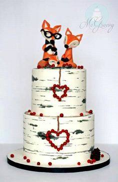 Foxy birch tree cake