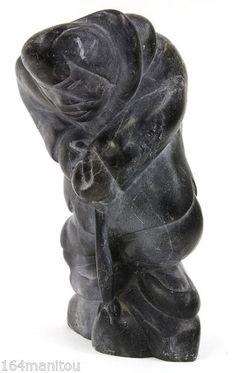 Inuit-Eskimo-Art-Carving-soapstone-THE-ICE-PICKER-Joanassie-Oomayoualook-b34