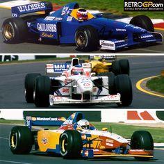 #15 Nakano Shinji (Jap )- Prost JS45 Mugen Honda MF 301 HB (V10 -3,0L )-Prost Gauloises Blondes. #22 Barrichello Rubens (Bra )- Stewart SF 01 Ford Cosworth JD Zetec-R (V10 -3,0L )- HSBC Malaysia Stewart Ford. #24 Sospiri Vincenzo (Ita )- Lola T97/30 Ford Cosworth ECA Zetec-R (V8-3,0L )- Mastercard Lola F1 Team.