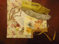 Cigar Box Mixed Media Starter Kit in Gold Tones by amazingstacy, $10.00