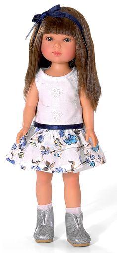 Carlota Doll (Brunette In Dress)
