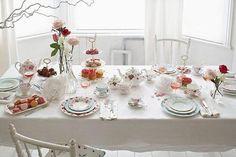 Lovely set table