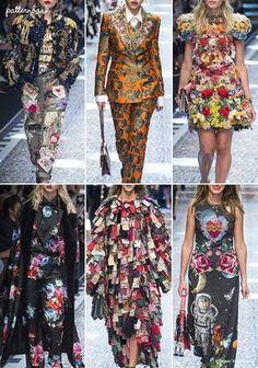 Dolce & Gabbana – Fall 2017 – RTW – Milan Fashion Week – Print & Pattern Highlight | Patternbank