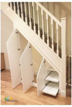 Most creative stair with storage inspirations 38 Understairs Storage CREATIVE Inspirations Stair storage Basement Staircase, Staircase Storage, Hallway Storage, Basement Ceilings, Basement Bars, Attic Storage, Staircase Design, Closet Storage, Under Stairs Cupboard Storage