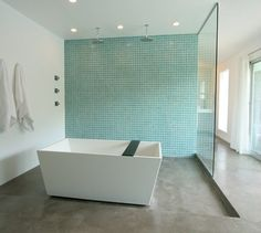 Turqoise tiles for the bathroom