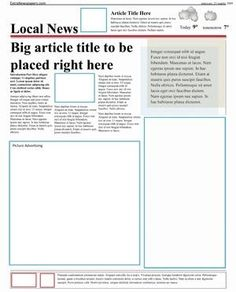 Editable old newspaper template one of a number of nice templates newspaper template pack for word perfect for school saigontimesfo