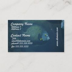 Business Card Template Photoshop, Blue Tang, Company Names, Business Cards, Fish, Templates, Business Names, Lipsense Business Cards, Stencils