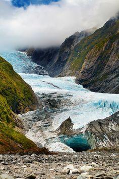 Franz Josef Glacier on the west coast of New Zealand's South Island. #NewZealand
