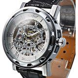 Quality WINNER Fashion Faux Leather Mechanical Watch Men's Decoration Watch Black Band STEAMPUNK Skeleton Man Mechanical Watches with free worldwide shipping on AliExpress Mobile Mens Skeleton Watch, Skeleton Watches, Steampunk Men, Steampunk Watch, White Watches For Men, Mechanical Watch, Sport Watches, Men's Watches, Fashion Watches