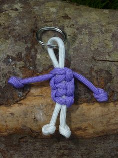 Paracord Peeps Paracord Keychain Keyrings by FunkyKnitsandBits, £2.00