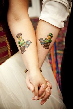 Lego couple tattoo #tattoo #lego #coupletattoo #tatuaggicoppia #tattoolove #inkmet #legotattoo