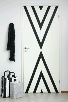 Cool idea for boring door (paint or colorful duct tape)