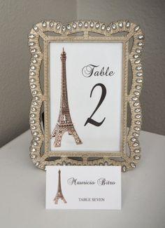 Número de la tabla de Torre Eiffel. Decoración del por KimeeKouture