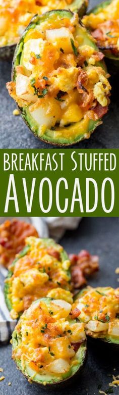 Breakfast Stuffed Avocado - Keto Vegetarian - Ideas of Keto Vegetarian - Breakfast Stuffed Avocado Breakfast And Brunch, Breakfast Dishes, Healthy Breakfast Recipes, Brunch Recipes, Diet Recipes, Healthy Snacks, Vegetarian Recipes, Healthy Eating, Cooking Recipes