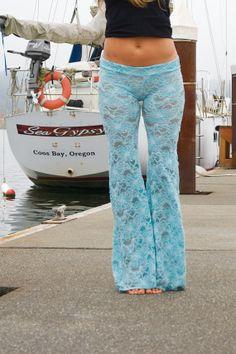 6a13b7769f697 FLORAL stretch shimmer lace beach boho dance resort yoga festival burning  man gypsy flare bell bottom pants or leggings