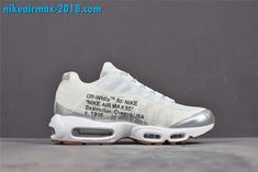 866ea3cb3851 Off-White x Nike Air Max 95 Mens Shoes White Silver 609048-109 For