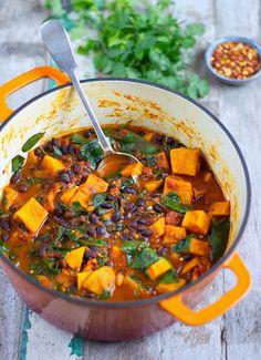 Sweet Potato and black bean stew