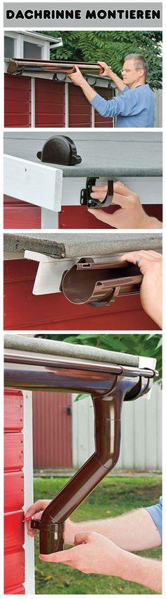 Die Montage einer Dachrinne ist nicht schwer. Wir zeigen Schritt für Schritt, wie du die Regenrinne am (Garten-)Haus anpasst und montierst.