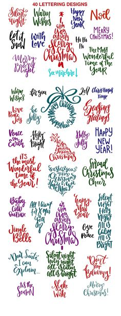 Christmas Lettering Quotes & Clipart - Illustrations