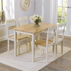 I love this table! Buy the Chiltern Oak and Cream Dining Table with Bench and Chairs at Oak Furniture Superstore Black Dining Room Table, Kitchen Table Bench, Dining Table With Bench, Table And Chair Sets, Dining Table Chairs, Dining Furniture, Oak Table, Dining Sets, Dining Area
