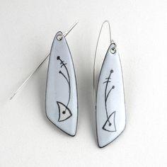 pendientes esmaltados - W Walsh Diseños