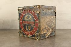 French Tole LARGE Biscuit Tin LU Brand..Cookie by LeMoulinBleu